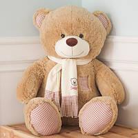Плюшевая игрушка медведь, Тедди 130 см, карамельный