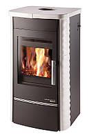 Кафельная печь-камин с теплообменником Haas+Sohn Alytus . изразцовая печь