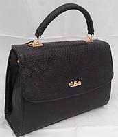 Каркасная сумка B.Elit, рептилия, чёрная