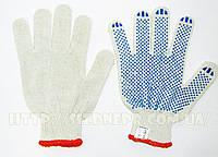 Перчатки хлопчатобумажные вязаные с ПВХ точкой 8310