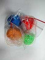 Шариковый пластилин в баночке 4 цвета по 10 грамм.