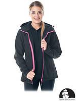 Куртка женская рабочая утепленная черная Польша (рабочая одежда) LH-LADYONE B