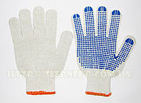 Перчатки хлопчатобумажные вязаные с ПВХ точкой 8510