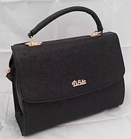 Каркасная сумка B.Elit, перфорированная, чёрная