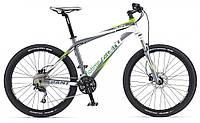 горный велосипед Giant Talon 3 26 2013 (XL, серебристый-белый-зеленый)