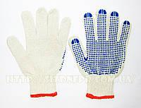 Перчатки хлопчатобумажные вязаные с ПВХ точкой 8610 (8611)
