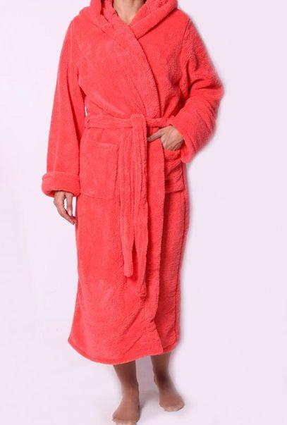 Махровый длинный халат на запах в разных цветах