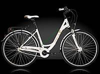 городской велосипед Bergamont Belami N7 C1 2015 год (52 см, белый-золотой)