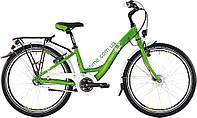 городской велосипед Bergamont Belamini N3 2015 год (32 см, зеленый-белый)