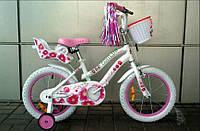 """детский велосипед VNV 16"""" Pink Flower 2015 год"""