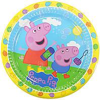 Тарелки бумажные Свинка Пеппа-2 10шт.