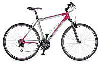 """кроссовый велосипед Author Classic 28"""" 2015 год (18"""", серый-красный-черный)"""
