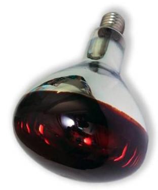 Лампа для обогрева красная 150 Вт E27