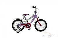 """детский велосипед Comanche Moto W16 (8"""" фиолетовый-белый)"""