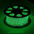 Светодиодная лента LED 5050 с зелеными диодами бухта 100 метров 220V, фото 2