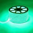 Светодиодная лента LED 5050 с зелеными диодами бухта 100 метров 220V, фото 3