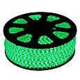 Светодиодная лента LED 5050 с зелеными диодами бухта 100 метров 220V, фото 6