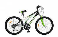 """подростковый велосипед Comanche Pony Fs (11"""", черный-белый-зеленый)"""