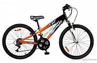 """подростковый велосипед Comanche Indigo Fs (11"""", черный-оранжевый)"""