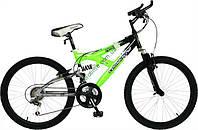 """подростковый велосипед Comanche Indigo Ds (15"""", черный-зеленый)"""
