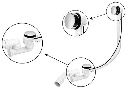 Сифоны для ванн и глубоких душевых поддонов