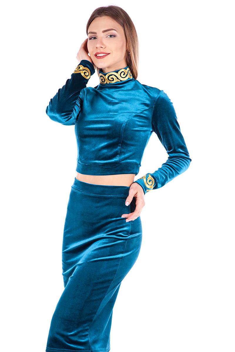 Купить бархатный костюм женский
