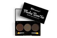 Трио-набор для бровей Flawless Brow Trio - Medium BH Cosmetics Оригинал