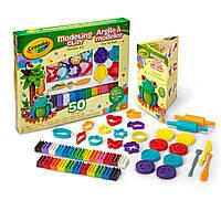 Большой набор пластилина с акссесуарами (всего 50 предметов) для творчества Crayola Deluxe Modeling Clay, фото 1