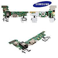Шлейф для Samsung A3 A300F / A300FU, коннектора зарядки, коннектора наушников, микрофона, REV 0.1, оригинал