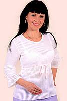 Джемпер белый чистый хлопок вязка (БЛ 320044)