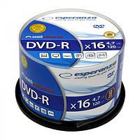 Диск ESPERANZA DVD-R 4,7GB X16 - CAKE BOX 50 шт..
