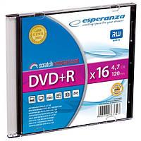 Диск ESPERANZA DVD+R 4,7GB X16 - тонкий CD бокс 1 шт..
