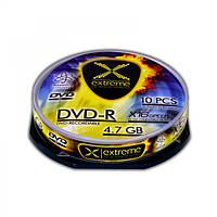 Диск EXTREME DVD-R 4,7GB X16 - CAKE BOX 10 шт..