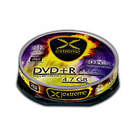 Диск EXTREME DVD+R  4,7GB X16 - CAKE BOX 10 шт..