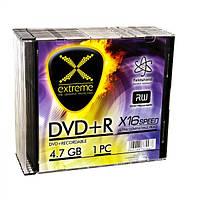 Диск EXTREME DVD+R  4,7GB X16 - тонкий CD бокс 10 шт..