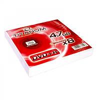 Диск TITANUM DVD+R 4,7GB X8 - конверт  10 шт
