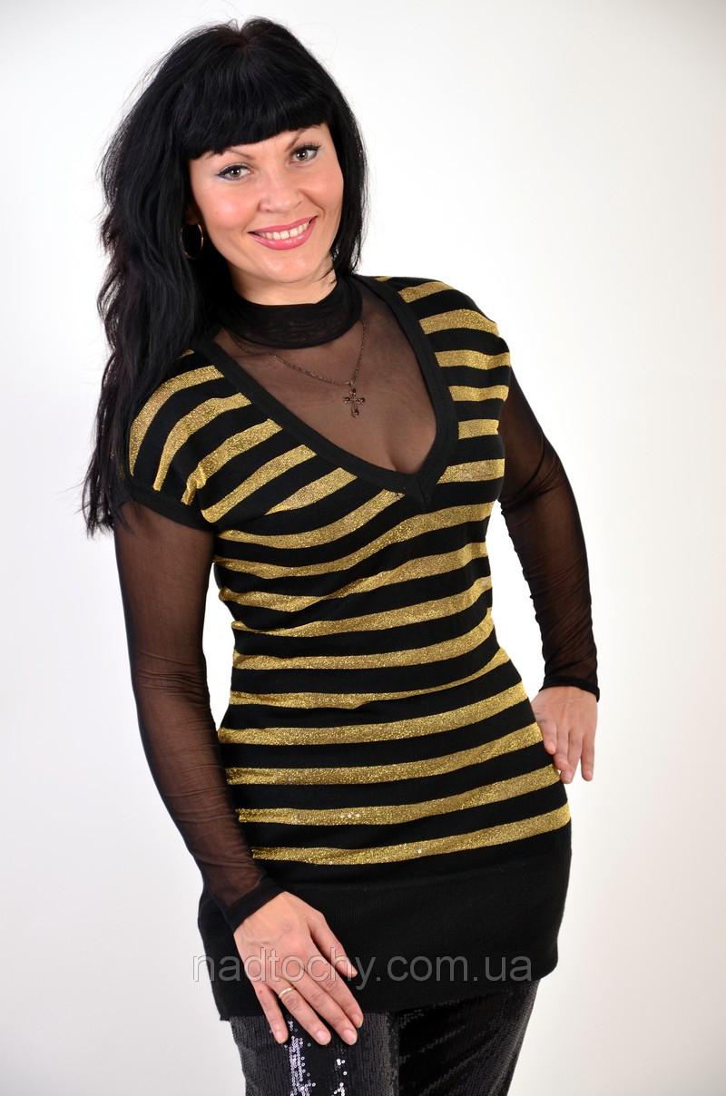Сеточка туника пчелка золотая с черным , БЛ 417461