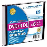 Диск ESPERANZA DVD+R 8,5GB X8 DL - тонкий CD бокс 1 шт..