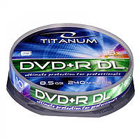 Диск TITANUM DVD+R 8,5GB X8 DL - CAKE BOX 10 шт..