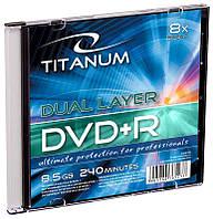 Диск TITANUM DVD+R 8,5GB X8 DL - тонкий CD бокс 1 шт..