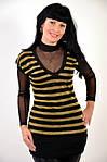 Сеточка туника пчелка золотая с черным , БЛ 417461, фото 2