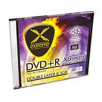Диск EXTREME DVD+R  8,5GB X8 DL - тонкий CD бокс 1 шт.
