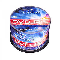 Диск TITANUM DVD-R  4,7 GB X16 - CAKE BOX 50