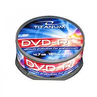 Диск TITANUM DVD-R  4,7 GB X16 - CAKE BOX 25
