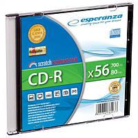 Диск ESPERANZA CD-R  серебристый   - тонкий бокс 1 шт..