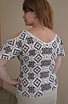 Кофточка трикотажная из хлопка стрейч футболка ( БЛ 445560), фото 3