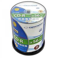 Диск ESPERANZA CD-R  серебристый   - CAKE BOX 100 шт..
