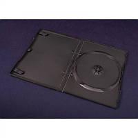 Коробка для хранения дисков  на 1 DVD - черный (14 MM.) - 4 PIN