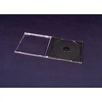 Коробка для хранения дисков  на 1 CD - черный