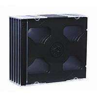 Коробка для хранения дисков  на 2 CD - черный - упаковка 5 шт..